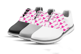 Women's Innovator 1.0 Golf Shoe with Caddy Girls White Step & Repeat Saddles & Laces