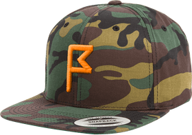 Camo Hat Orange Flagstick Front View From Jack Grace USA
