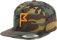 Men's Camo Flagstick Snapback Hat with Hunter Orange Flagstick