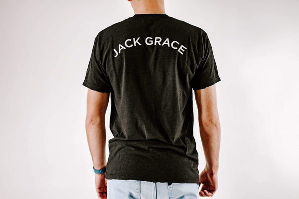 Black Golf T-Shirt (Back) from Jack Grace USA