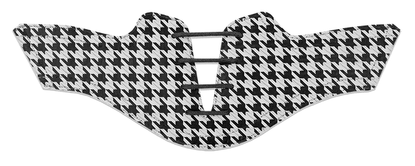 Women's Black Houndstooth on White Saddle & Laces - DELIVERY SEPTEMBER 2018