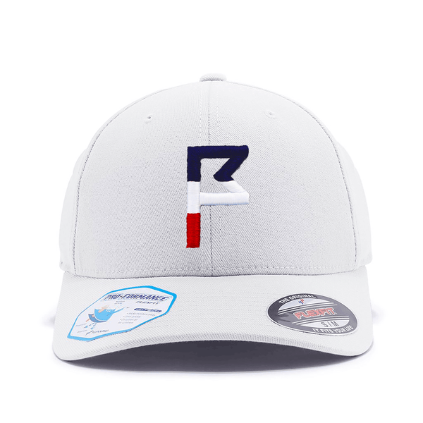 Flagstick Hat with Red, White and Blue Embroidery