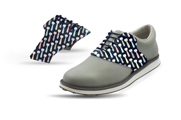 Men's All Tied Up Saddles On Grey Golf Shoe From Jack Grace USA