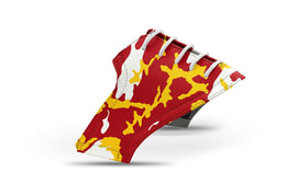 Men's Ames alma mater camo college football saddles lonely saddle view from Jack Grace USA