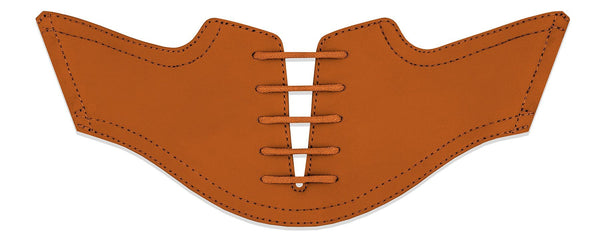 Men's Burnt Orange Saddles Flat Saddle View From Jack Grace USA