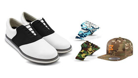 Mens Camo Bundle Saddles On White Golf Shoe From Jack Grace USA