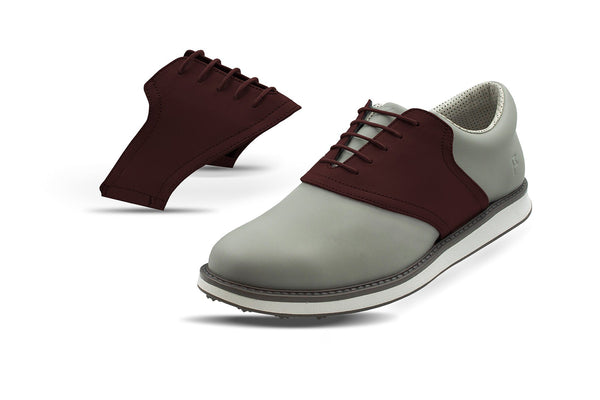 Men's Chocolate Saddles On Grey Golf Shoe From Jack Grace USA