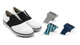 Mens Classic Bundle Saddles On White Golf Shoe From Jack Grace USA