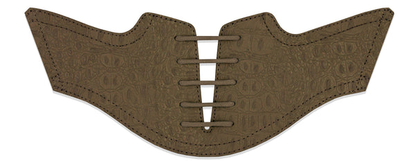 Men's Coffee Croc Saddles Flat Saddle View From Jack Grace USA