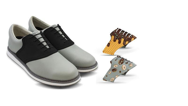 Men's Food Bundle Saddles On Grey Golf Shoe From Jack Grace USA