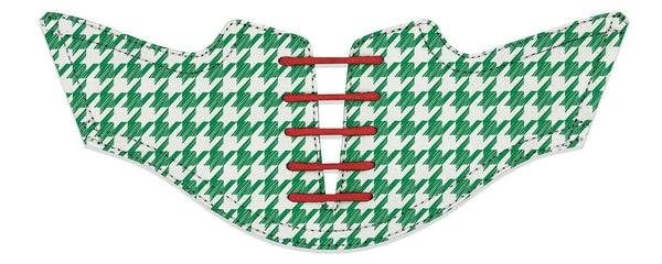 Men's Green Houndstooth Saddles Flat Saddle View From Jack Grace USA