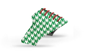 Men's green houndstooth saddles lonely saddle view from Jack Grace USA