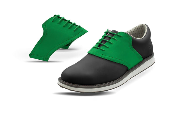 Men's Green Saddles On Grey Golf Shoe From Jack Grace USA