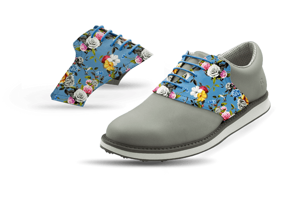 Men's Light Roses Saddles On Grey Golf Shoe From Jack Grace USA