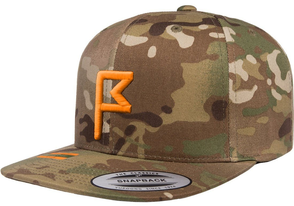 Mens Multi Camo Hat Front View From Jack Grace USA
