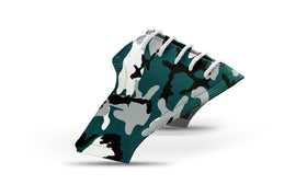 Men's Philadelphia pro football camo saddles lonely saddle view from Jack Grace USA