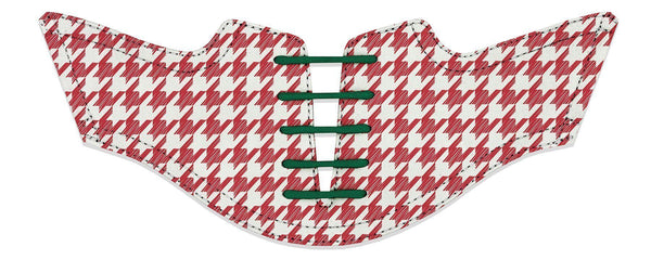 Men's Red Houndstooth Saddles Saddles Flat Saddle View From Jack Grace USA