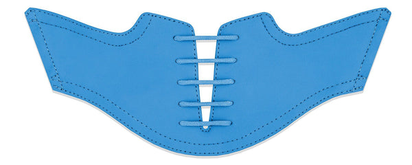 Men's Sky Blue Saddles Flat Saddle View From Jack Grace USA