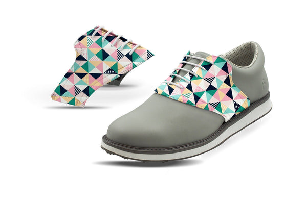 Men's Spring Mosaic Saddles On Grey Shoe From Jack Grace USA