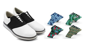 Mens Tropical Bundle Saddles On White Golf Shoe From Jack Grace USA