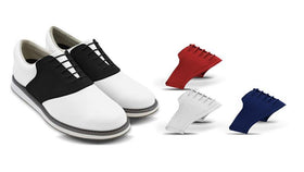 Mens USA 1 Bundle Saddles On White Golf Shoe From Jack Grace USA