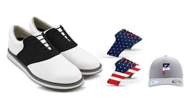 Mens USA 2 Bundle Saddles On White Golf Shoe From Jack Grace USA