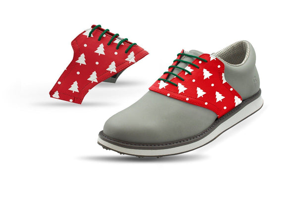 Men's White Pine Tree Red Saddles Saddles On Grey Golf Shoe From Jack Grace USA
