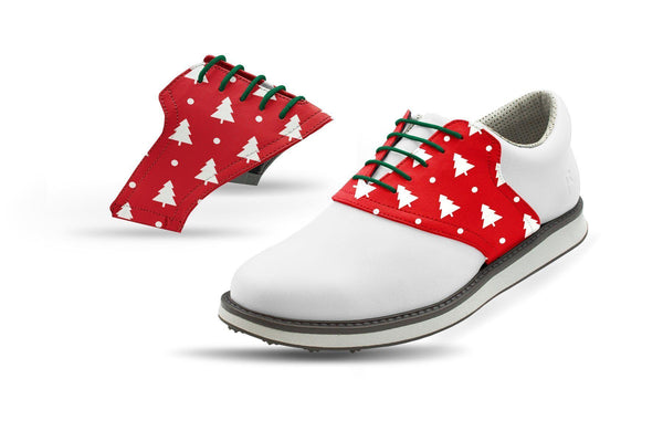 Men's White Pine Tree Red Saddles Saddles On White Golf Shoe From Jack Grace USA