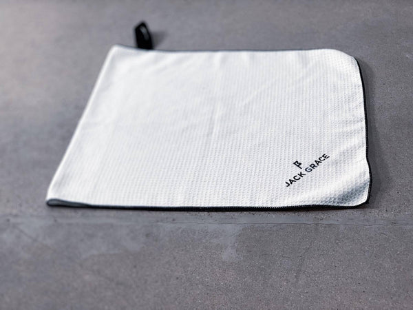 Microfiber Waffle Towel Angle View 1 From Jack Grace USA