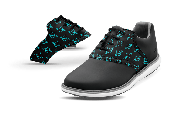 Women's Innovator 1.0 Golf Shoe with Thirst Project Logo on Black Saddles & Laces