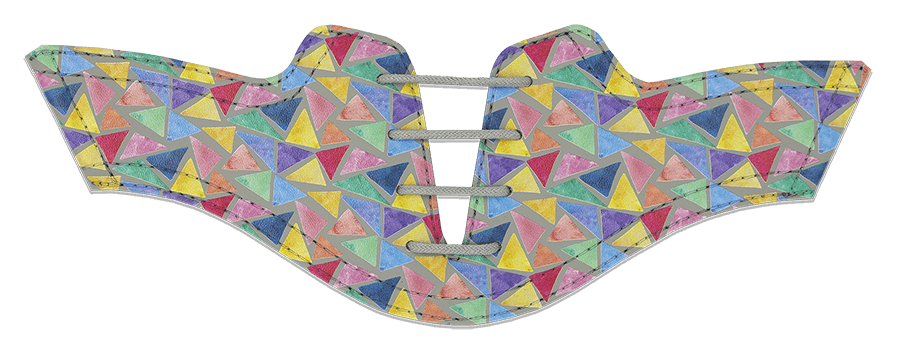 Women's Triangles on Grey Saddles & Laces
