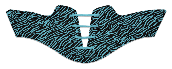 Women's Zebra Turquoise on Black Saddles & Laces- Pre-Sale for Delivery September 2018
