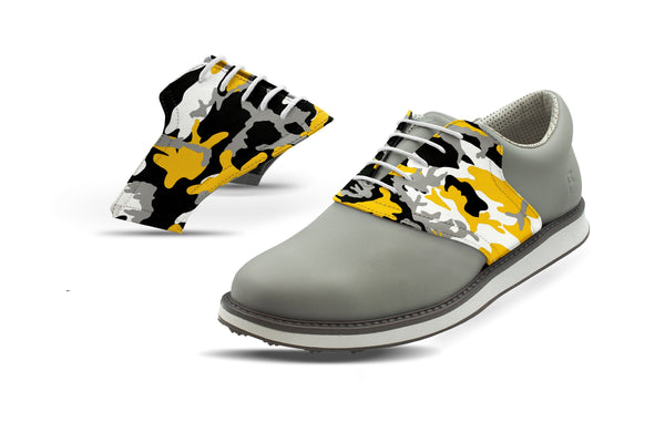 Men's Colombia MO Camo Alma Mater Saddles On Grey Golf Shoe From Jack Grace USA