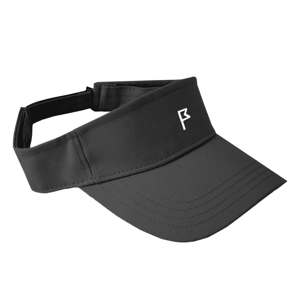 Women's Black Phoenix Performance Visor with your choice of Flagstick Color