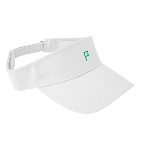 Women's White Phoenix Performance Visor with your choice of Flagstick Color