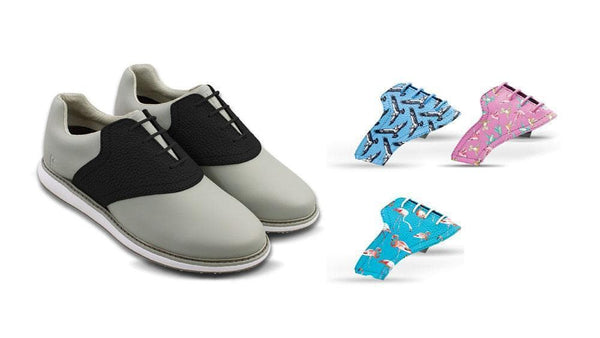 Women's Birds Bundle Saddles On Grey Golf Shoe From Jack Grace USA