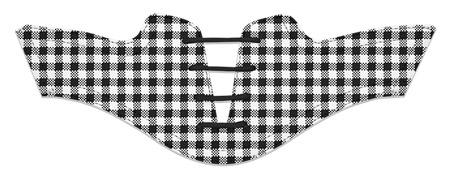 Women's Black and White Gingham with Black Laces