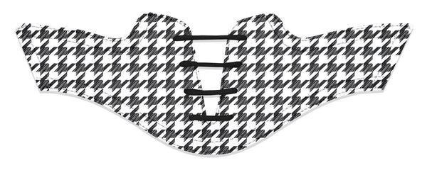 Women's Houndstooth Black Saddles Flat Saddle View From Jack Grace USA