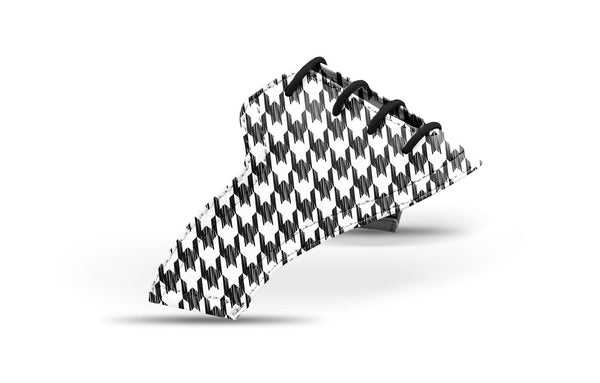 Women's Black and White Gingham Saddles Lonely Saddle View From Jack Grace USA