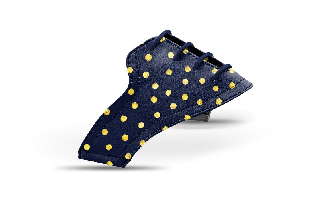 Women s Gold Dots on Navy Saddles   Laces 9f493f3ec