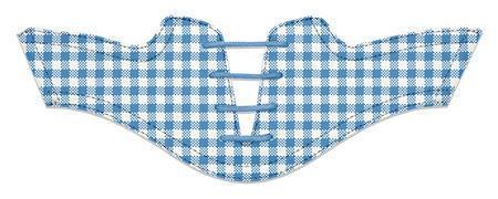 Women's Blue Azure Gingham Saddles Flat Saddle View From Jack Grace USA