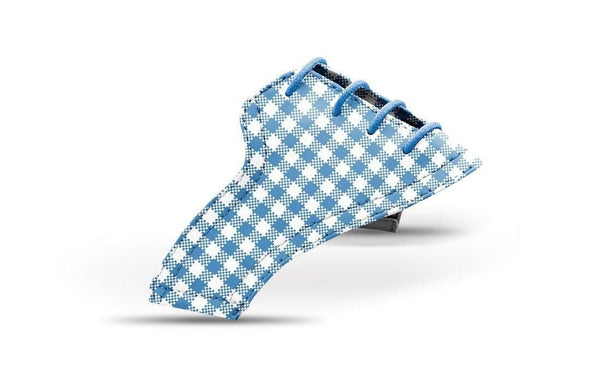 Women's Blue Azure Gingham Saddles Lonely Saddle View From Jack Grace USA
