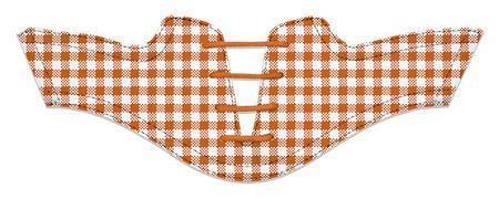 Women's Burnt Orange Gingham Saddles Flat Saddle View From Jack Grace USA