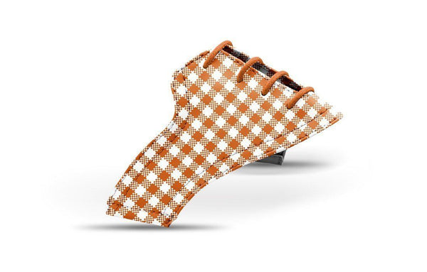 Women's Burnt Orange Gingham Saddles Lonely Saddle View From Jack Grace USA