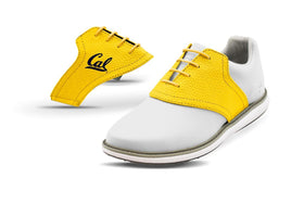 Women's Cal Gold Saddles On White Golf Shoe From Jack Grace USA