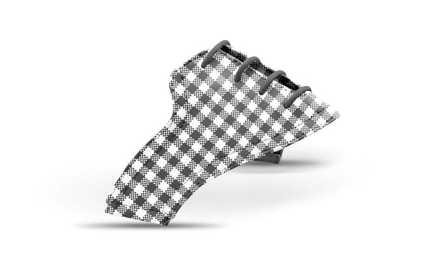 Women's Charcoal Gingham Saddles Lonely Saddle View From Jack Grace USA