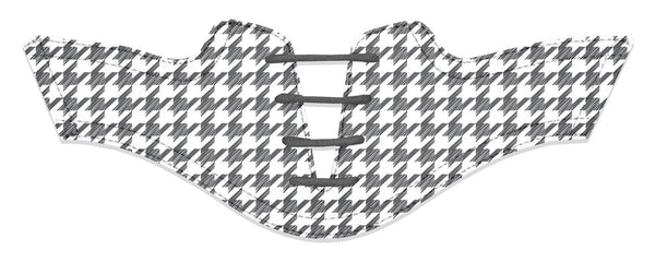 Women's Houndstooth Charcoal Saddles Flat Saddle View From Jack Grace USA