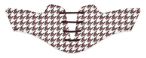 Women's Houndstooth Chocolate Saddles Flat Saddle View From Jack Grace USA