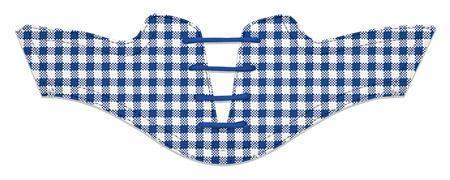 Women's Cobalt Gingham Saddles Flat Saddle View From Jack Grace USA