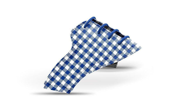 Women's Cobalt Gingham Saddles Lonely Saddle View From Jack Grace USA